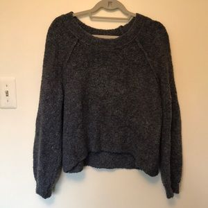AERIE SOFT & FLUFFY CROPPED SWEATER
